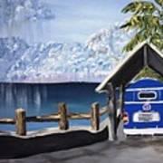 My Van In The Rain Print by K J Gordon