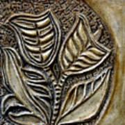 Vintaje Tile With Calas  Art Print