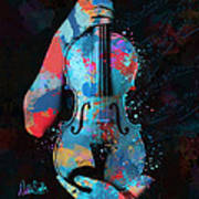 My Violin Whispers Music In The Night Art Print by Nikki Marie Smith