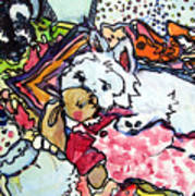 My Westie Milly And Her Toys Art Print