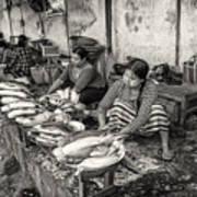 Myanmar Market Art Print