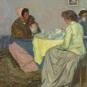 Myron G. Barlow 1873 - 1937 Dutch Women Drinking Coffee Art Print