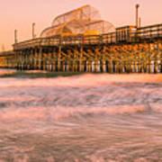 Myrtle Beach Apache Pier At Sunset Panorama Art Print