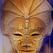 Mysterious Ancient  Asian Mask Art Print