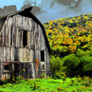 Mysterious Barn Art Print by Barry Shaffer