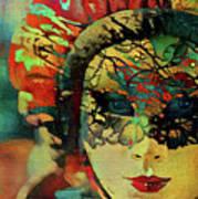 Mysterious Mask Art Print