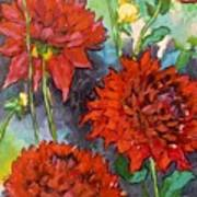 Mystery Day Dahlias Art Print