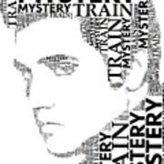 Mystery Train Elvis Wordart Art Print