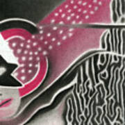 Mystery Woman Art Print