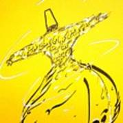 Mystic Dancer In Yellow Art Print by Faraz Khan