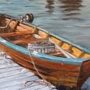 Mystic Fishing Boat Art Print