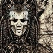 Mystic Future And Past - Ion Prophecies - Monotone  Art Print