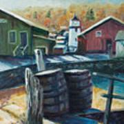 Mystic Harbor Art Print