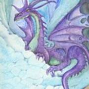 Mystic Ice Palace Dragon Art Print