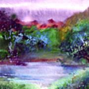 Mystic Lake Art Print
