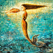Mystic Mermaid Iv Art Print