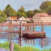 Mystic River View Art Print