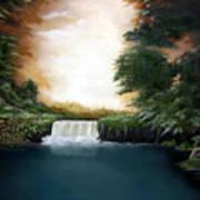 Mystical Falls Art Print