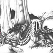 Mystical Riverbed Art Print