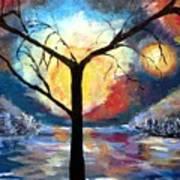 Mystical Twilight Forest Art Print