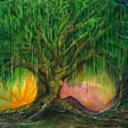 Mystical Willow Art Print
