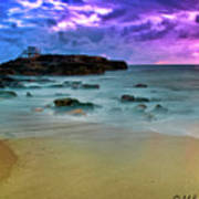 Mythical Ocean Sunset  Art Print