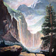 Mythical Valley Falls Art Print