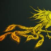 Myths Ablaze Art Print