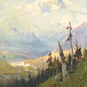 An Autumn Day, Mt Mckinley  Art Print