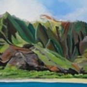 Na Pali Cruise Art Print