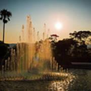 Nagasaki Peace Park Fountain Art Print