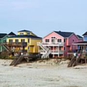 Nags Head Beach Houses Art Print