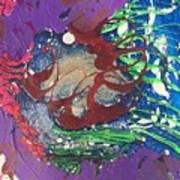 Nail Polish Abstract 15-s11 Art Print