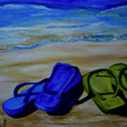 Naked Feet On The Beach Art Print by Patti Schermerhorn
