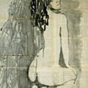 Naked Figure.  Art Print
