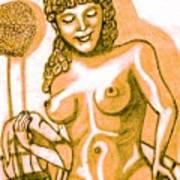 Naked Goddess Art Print