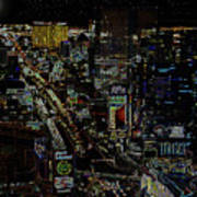 Naked Moon Over The Strip Art Print
