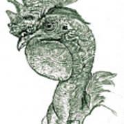Naked Neck Rooster Art Print