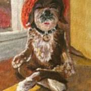 Namaste Dog Art Print