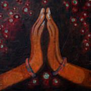 Namaste With Joy Art Print