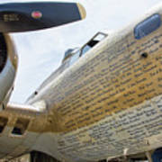 Names Pilots B-17 Art Print