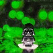 Nano Darth Vader - Pa Art Print