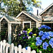 Nantucket Cottage No.1 Art Print