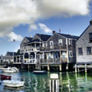 Nantucket Harbor In Summer Art Print