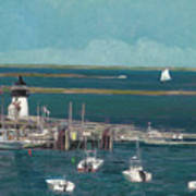Nantucket Harbor Art Print