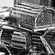 Nantucket Lobster Traps Art Print