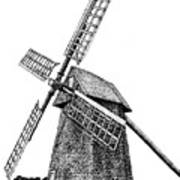 Nantucket Windmill Number One Art Print