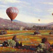 Napa Balloon Autumn Ride Art Print