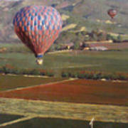 Napa Balloon Morning Ride Art Print