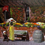 Napa Wine Cellar In Spring Art Print